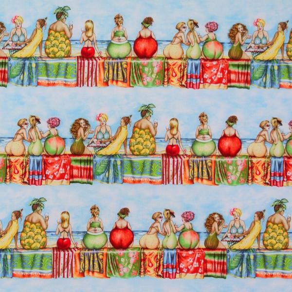 Fruit Ladies witzige Frauen Bordüren