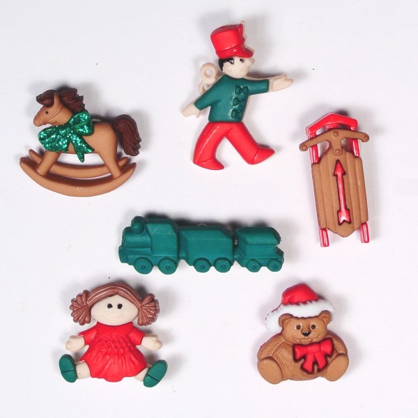 Motivknöpfe Dekoknöpfe Weihnachten Christmas Toys
