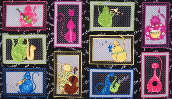 Phat Cat Jazz Katzen Panel
