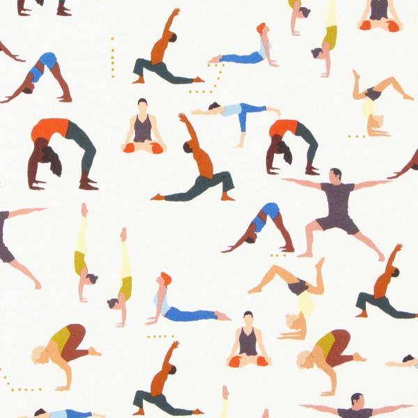 patchworkstoff yoga männer namaste alexander henry beige 30