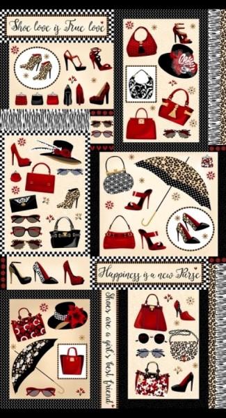 Patchworkstoff Baumwolle Shoe Love Schuhe Accessoires Panel
