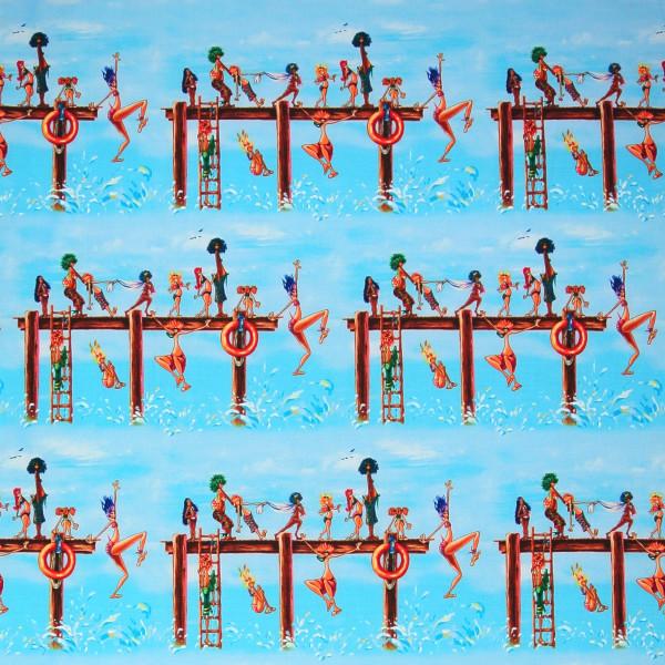 0,75 m Summertime Wasserratten am Steg