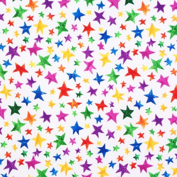 Patchworkstoff Raupe Nimmersatt kleine Sterne