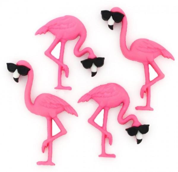 Motivknöpfe Knöpfe Dekoknöpfe Flamingos