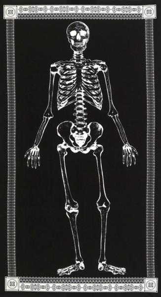 Halloween Glow in the Dark Skelett Panel