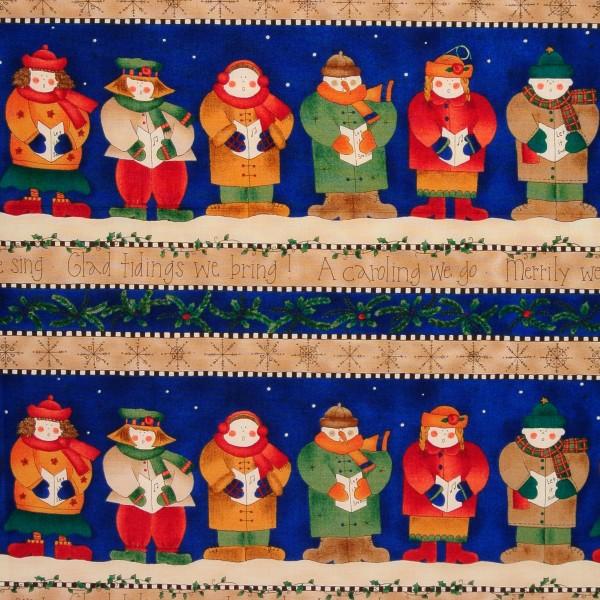 Patchworkstoff Kari Pearson Weihnachtsinger Kinder