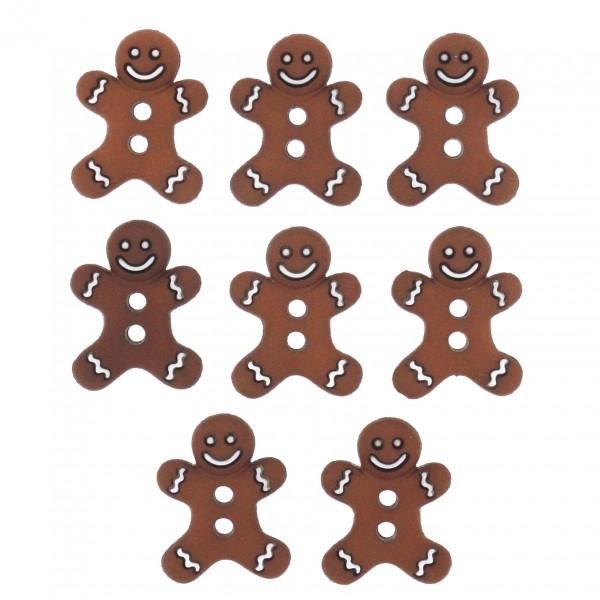 Motivknöpfe Dekoknöpfe Weihnachten Lebkuchen