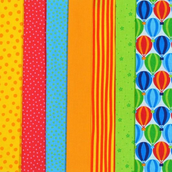 Westfalenstoff Stoffpaket Junge Linie Ballon 7 Stoffe