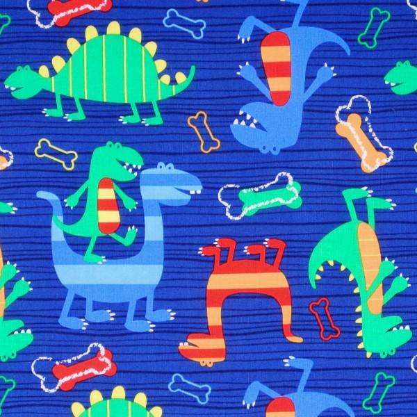 SALE 1 m Michael Miller Dinosaurier Dino Dude blau