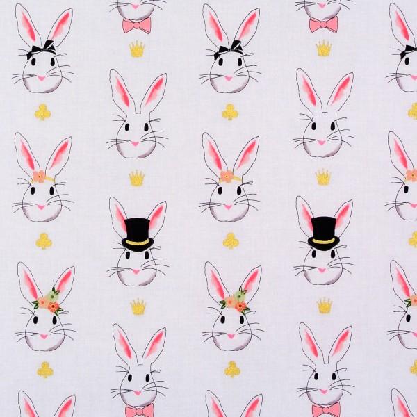 Wonderland Hasen auf Weiss