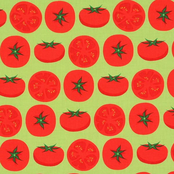 Robert Kaufman Tomaten auf Hellgrün •