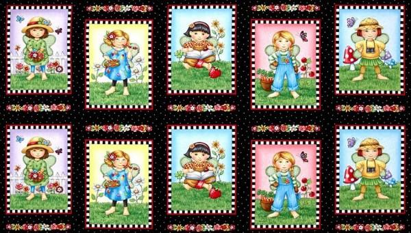 SALE Patchworkstoff Elfen Elfenkinder Mary`s Fairies