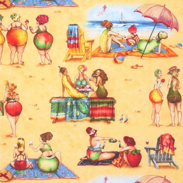 Fruit Ladies witzige Frauen Strandszenen
