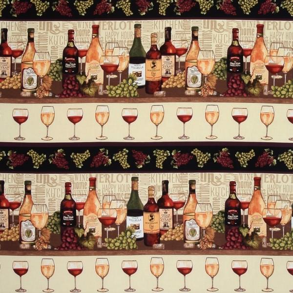 Vintage Whine Wein Bordüre