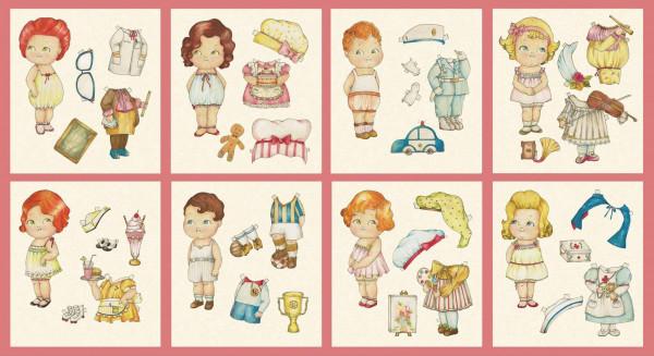 Anziehpuppen Paper Dolls Berufe Panel