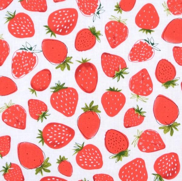 Robert Kaufman Erdbeeren auf Weiss Obst