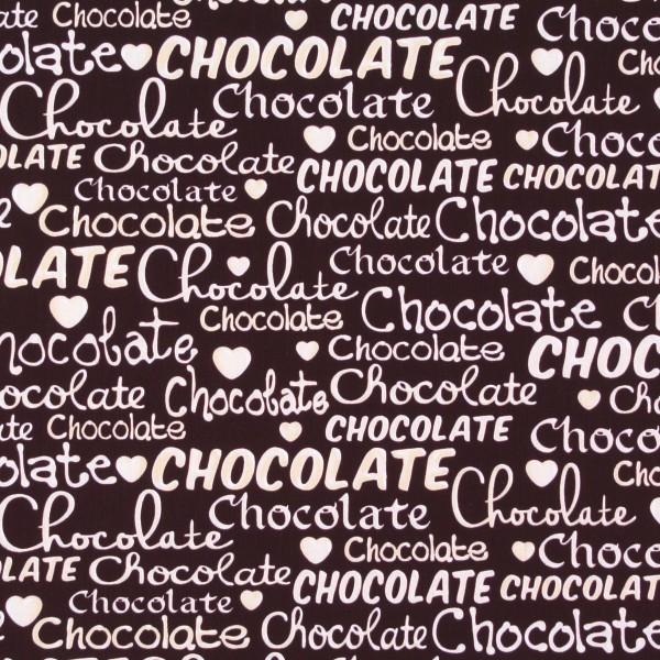 Oh Fudge Schokolade Schrift auf Braun