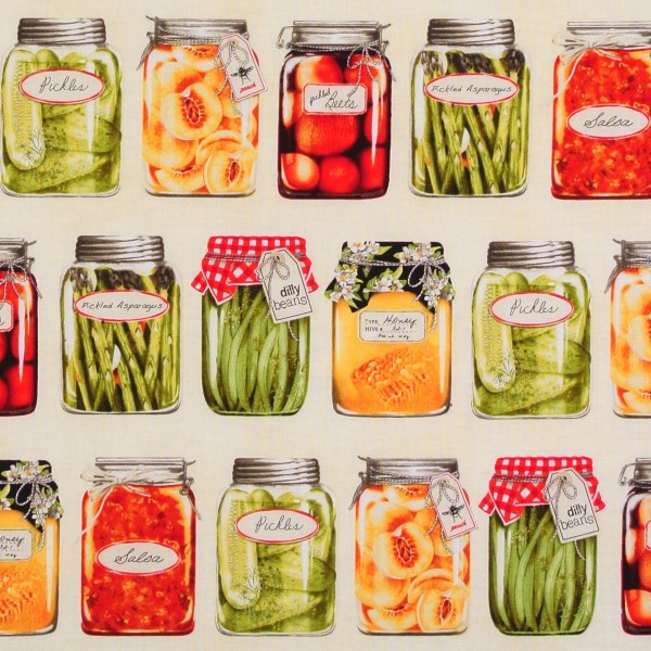 Einzelstück Obst Gemüse Eingemachtes 90 cm *